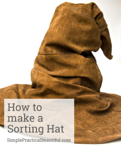 How to make a Sorting Hat | SimplePracticalBeautiful.com