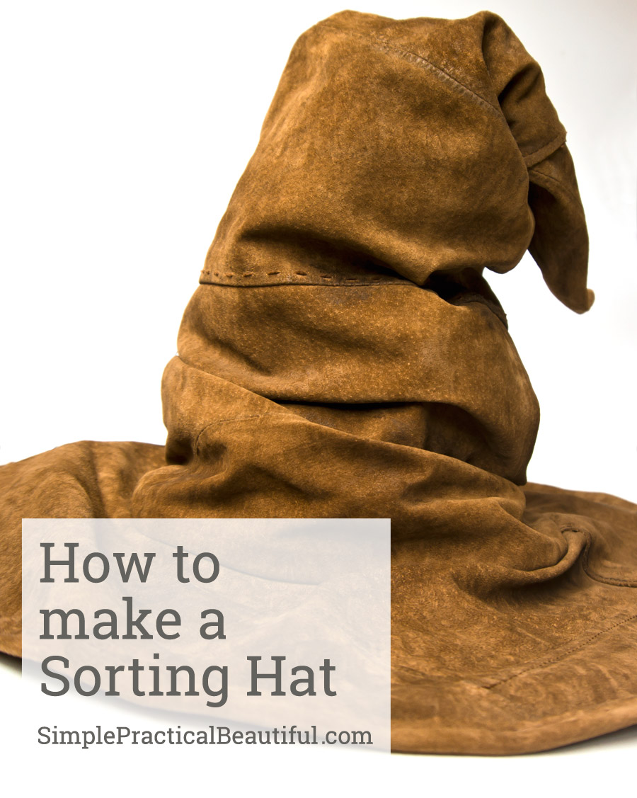 How to make a Sorting Hat for a Harry Potter party that looks realistic and made out of real leather