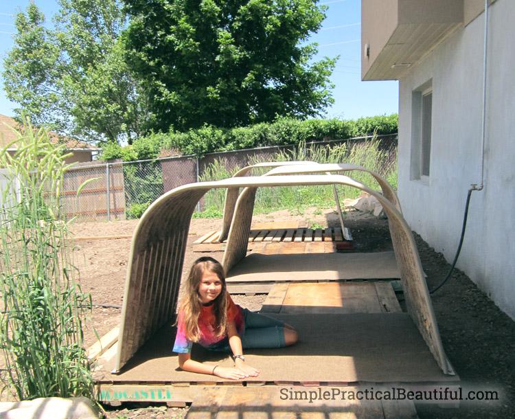 Window wells repurposed into hobbit holes