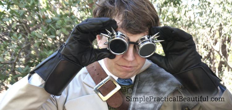 gentlemen's steampunk costume goggles