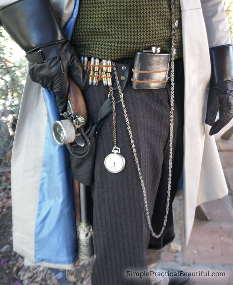 gentlemen's steampunk costume belt