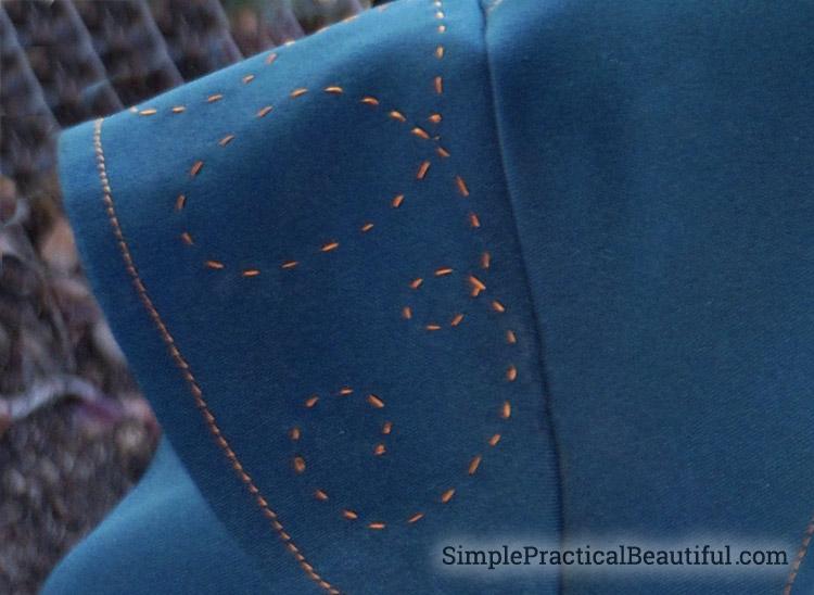 Steampunk Costume shoulder detail