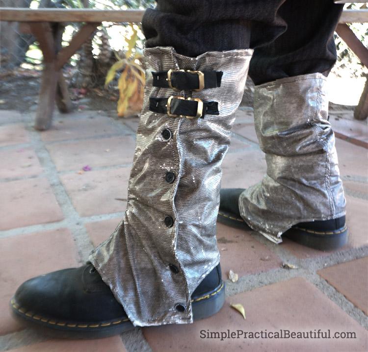 gentlemen's steampunk costume spats