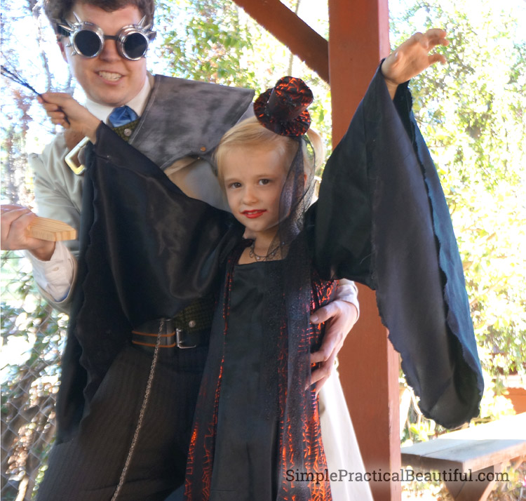Beautiful DIY vampire princess costume