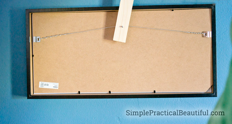 How to hang a frame with a wire hanger