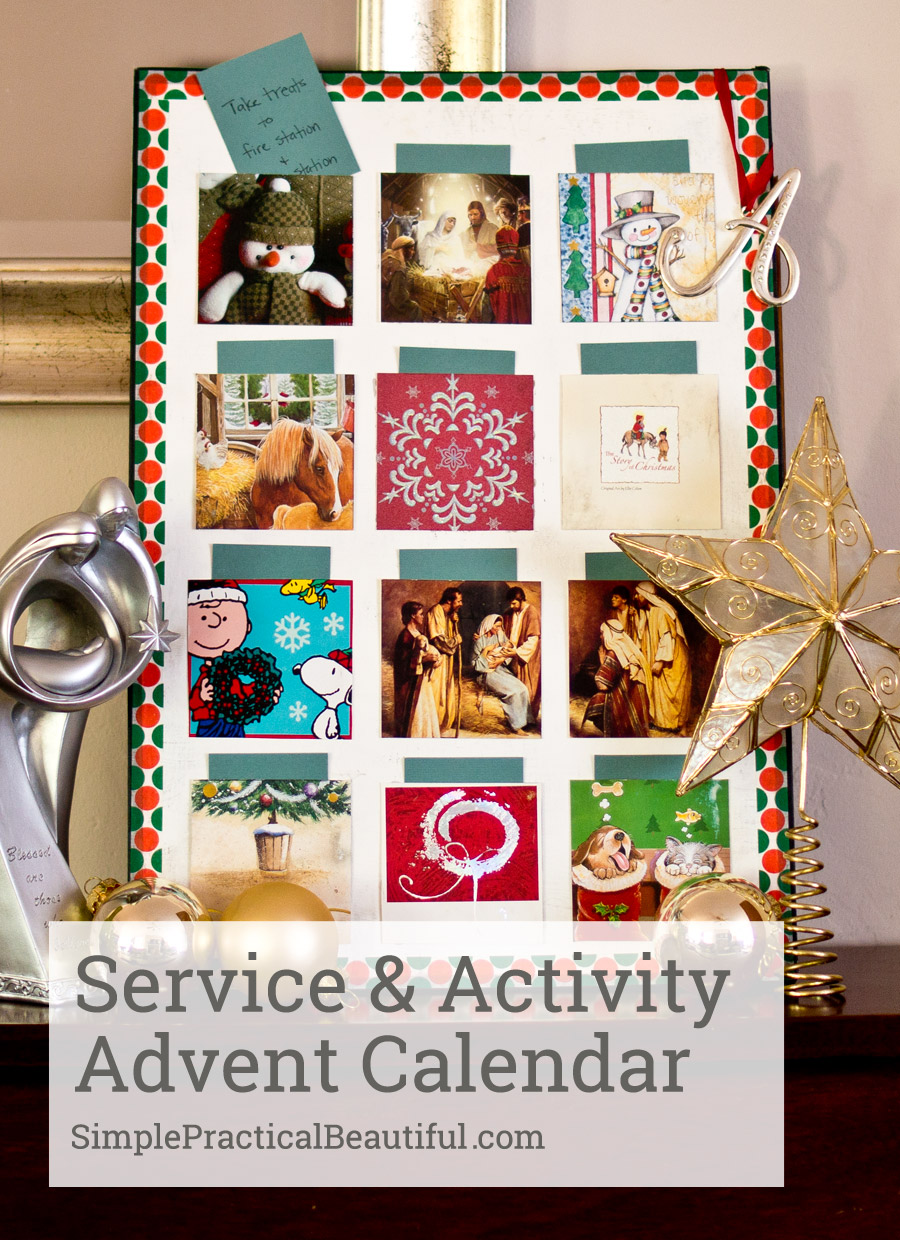 How to create an activity and service advent calendar |SimplePracticalBeautiful.com