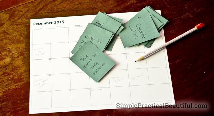 Scheduling a service advent calendar