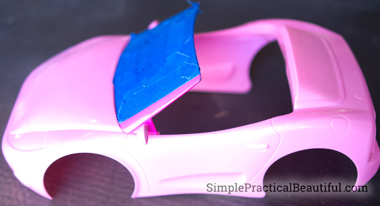 Turn a Barbie car into the Batmobile