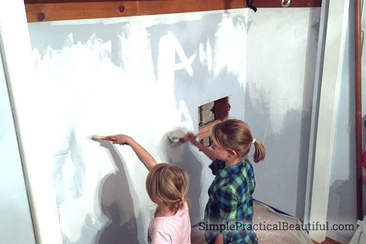 Tween closet redesign - painting the walls white