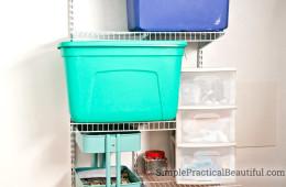 Tween closet reorganization - wire shelves
