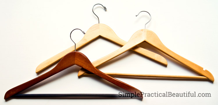 Wooden hangers makes your closet organized