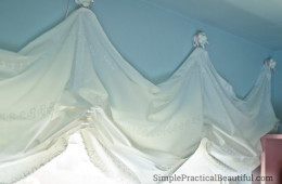 Balloon curtains or relaxed roman shades