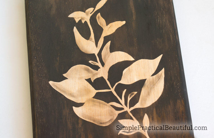 Create an image using wood stain