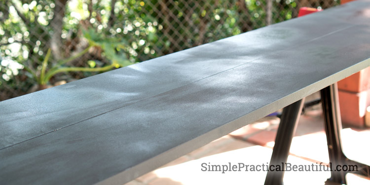 Creating a faux metal finish with paint