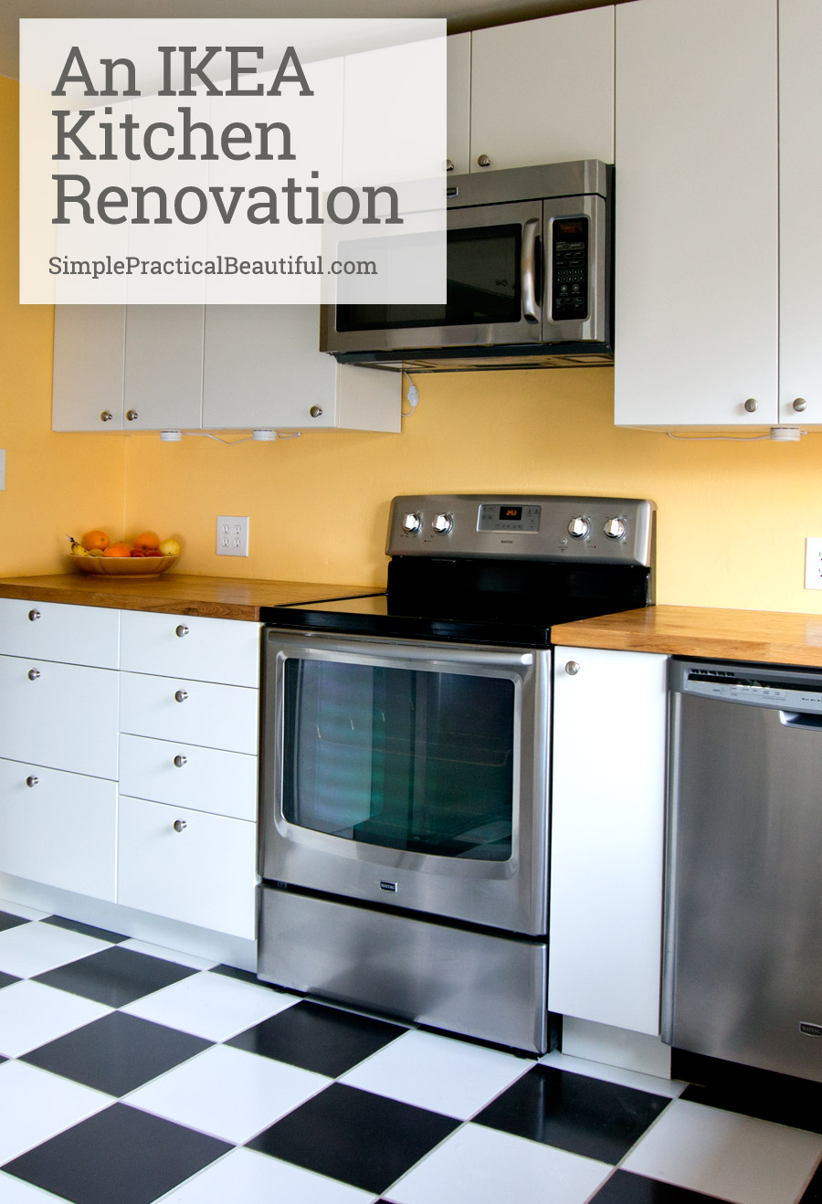 A great DIY IKEA kitchen remodel with a few custom parts. Lots of tips on how they did it.