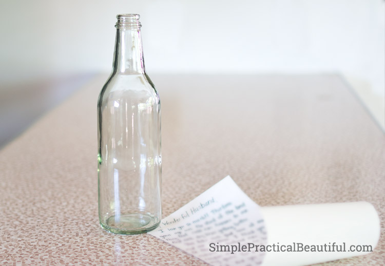 A special message hidden in a bottle