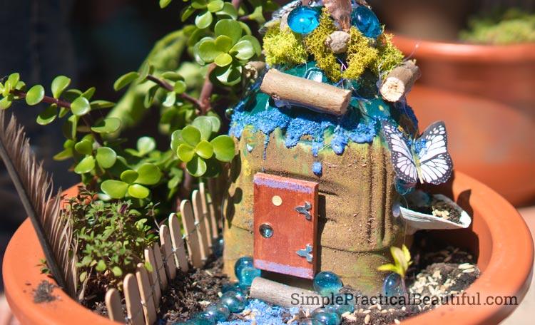 A fairy garden birthday party where each guest creates their own personal fairy garden