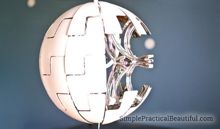 A Death Star light for a Star Wars nursery