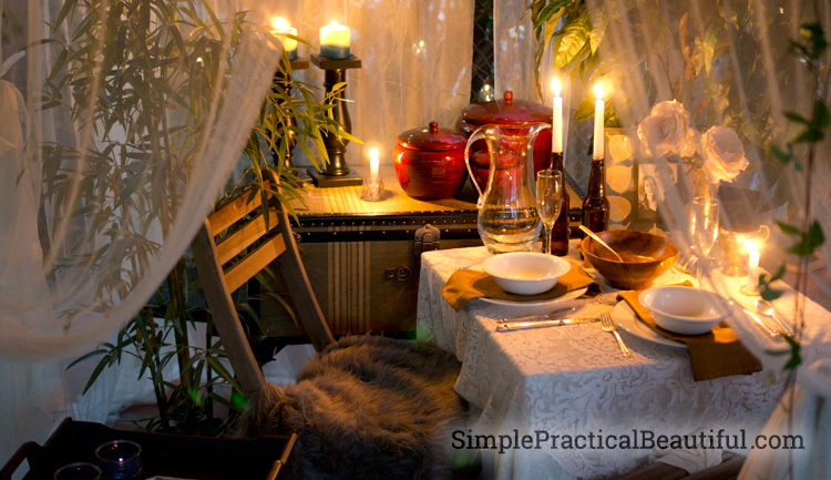 A Romantic Outdoor Dinner Tablescape Simple Practical