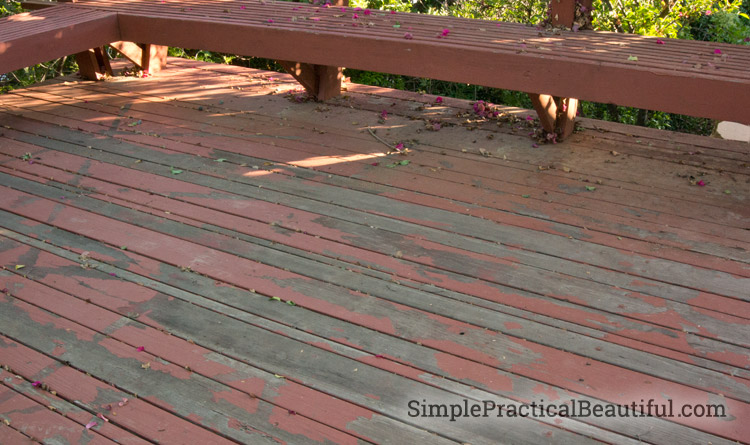 Reclaiming A Worn Out Deck Simple Practical Beautiful