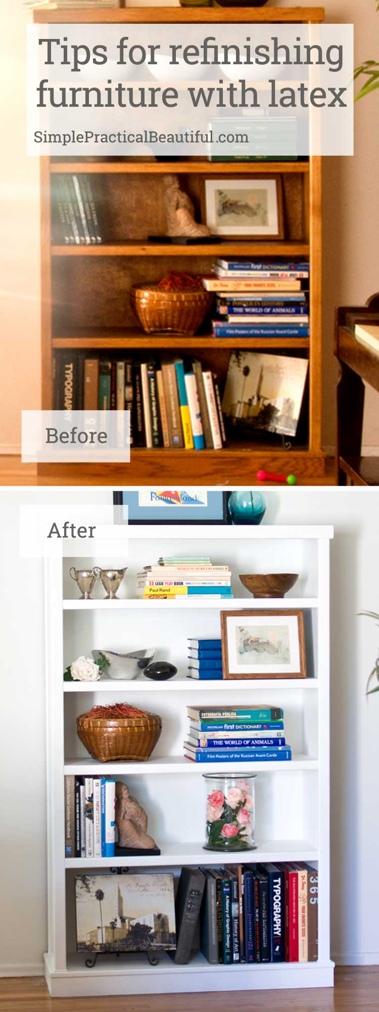 Refinishing A Wood Bookcase Simple