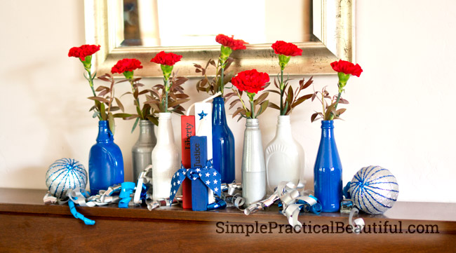 Red White And Blue Centerpiece Simple Practical Beautiful