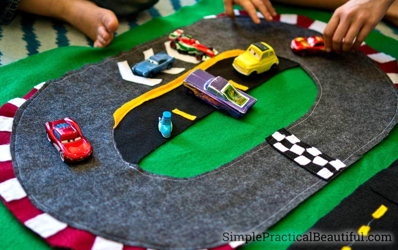 Cars 3 Felt Race Track Simple Practical Beautiful