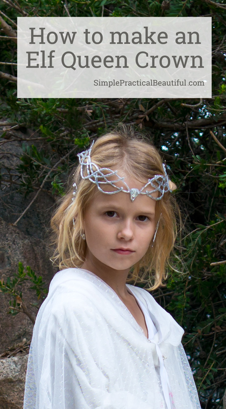 How to make a Galadriel crown with a glue gun that looks like silver | Halloween costume or cosplay | Elf costume crown | Lord of the Rings