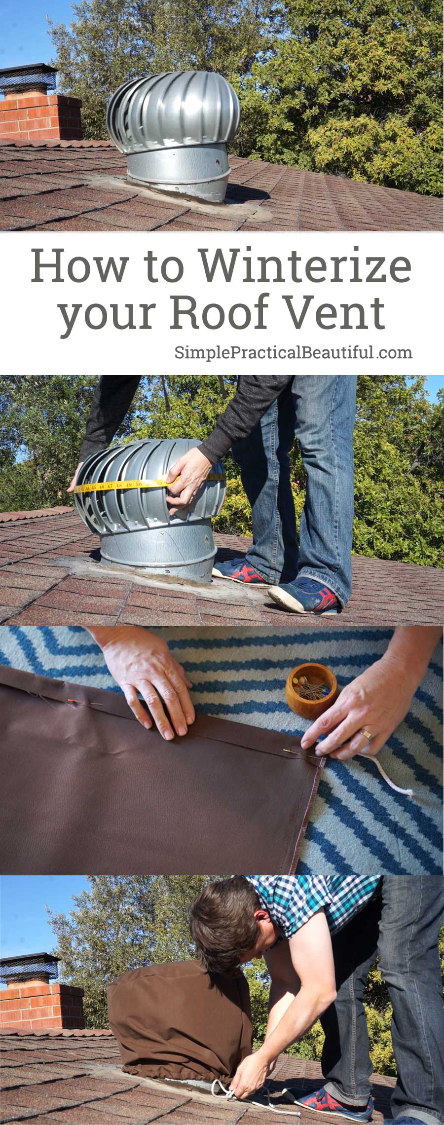 Winterize your roof by making a DIY roof vent cover for your whirlybird vent | How to make a roof vent cover video tutorial