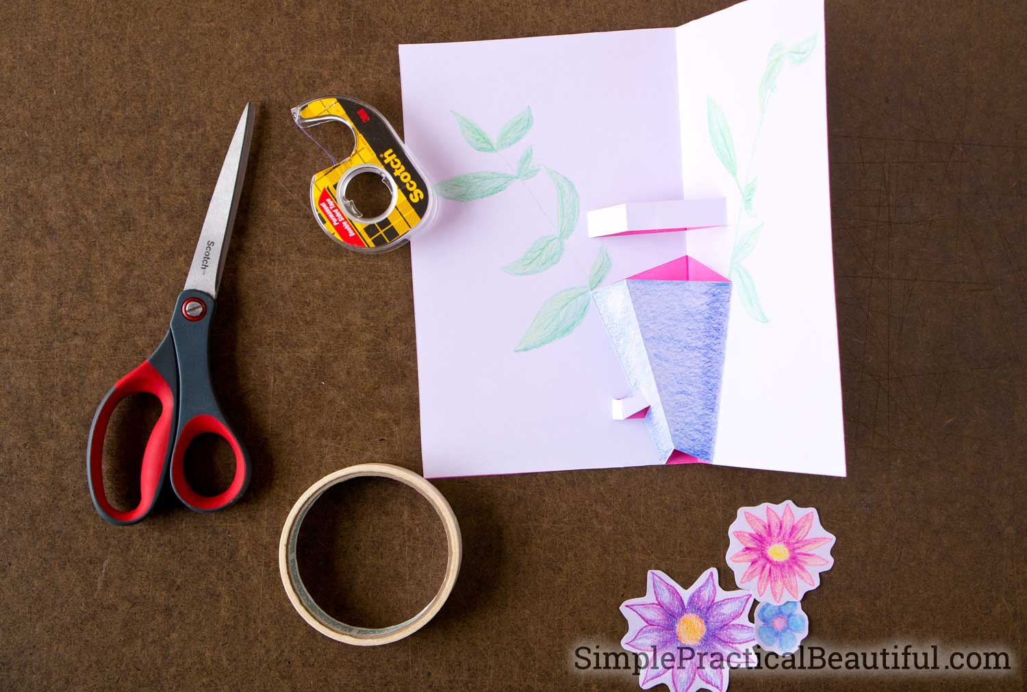 How to make a pop-up card with paper, scissors, tape, and a little creativity
