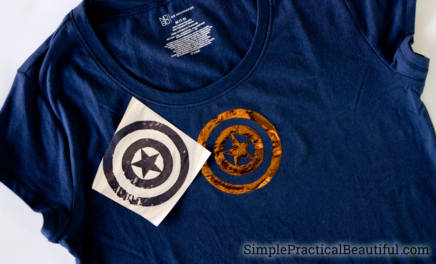 How to make a diy Avengers t-shirt with Deco Foil metallic sheets