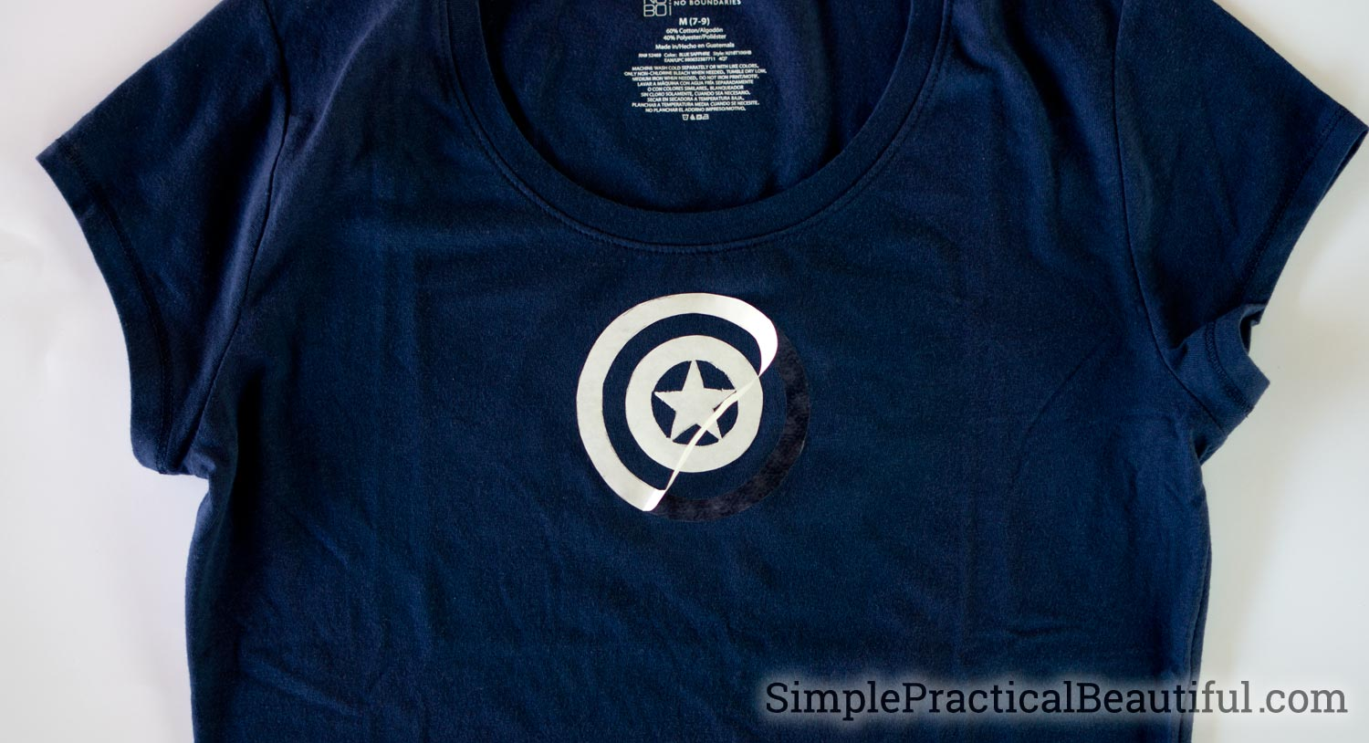Using Deco Foil hot melt adhesive to create a Captain America t-shirt