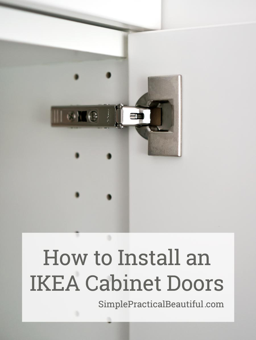 How to Attach an IKEA SEKTION Cabinet Door | Simple