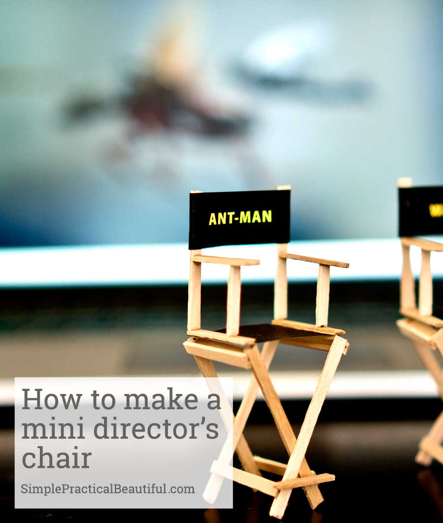 A tutorial on how to make a cute miniature director's chair just like from Marvel's Ant-man trailer. An easy DIY craft idea and great for small scale projects