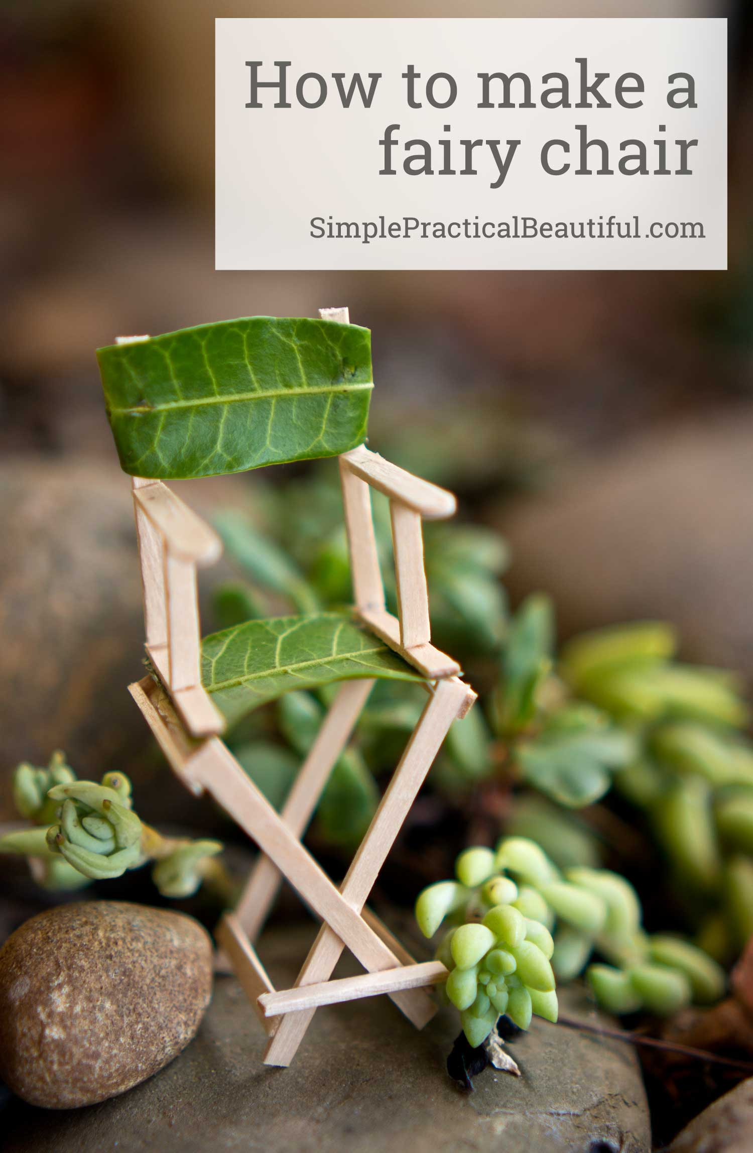 Make a cute miniature chair using wooden sandwich picks for your fairy garden