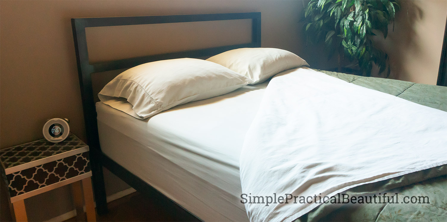 Buy sheets with deep pockets to fit over an extra large mattress