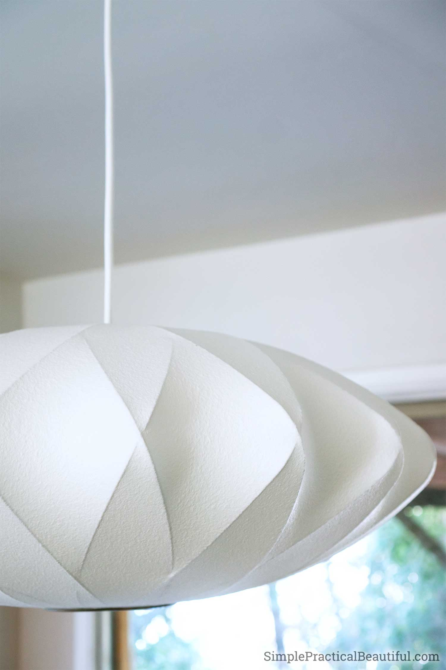 DIY tutorial on installing a new ceiling light after removing an old dated fan light combo fixture