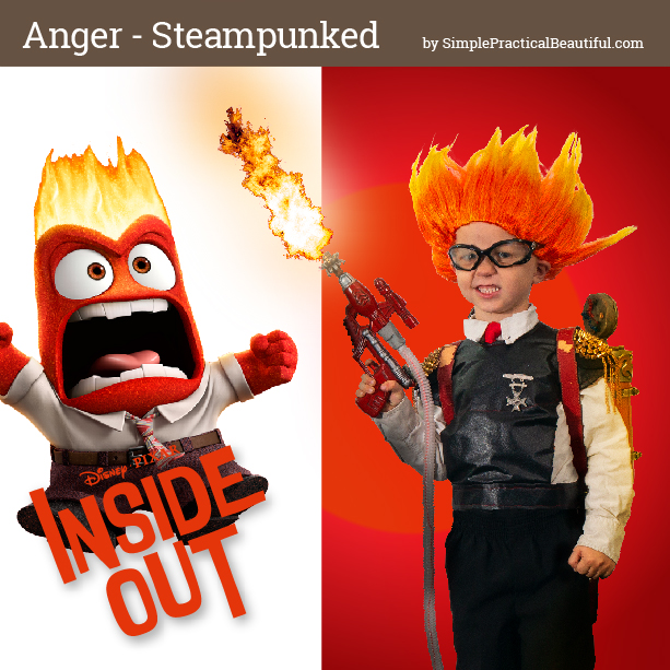 Anger from Disney Pixar's Inside Out inspires a steampunk costume for cosplay