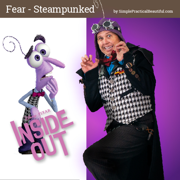 Fear from Disney Pixar's Inside Out inspires a steampunk costume for cosplay