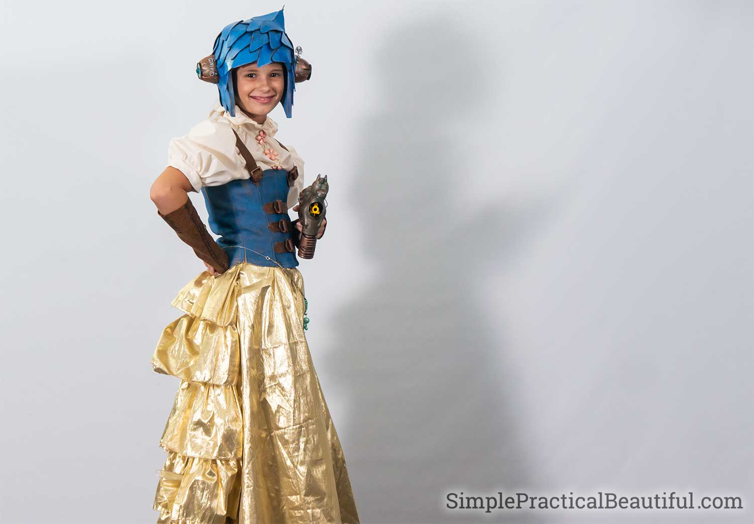 Cosplay costume for Inside Out character Joy in steampunk