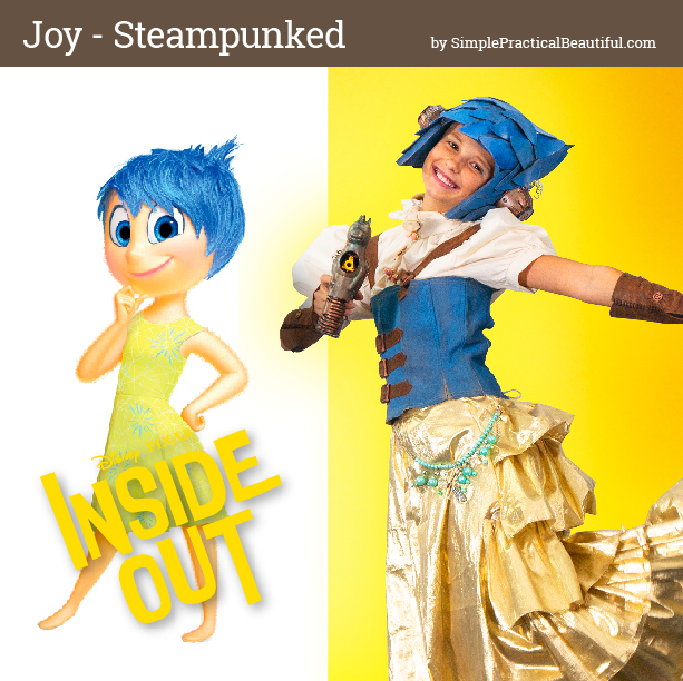 Joy from Disney Pixar's Inside Out inspires a steampunk costume for cosplay