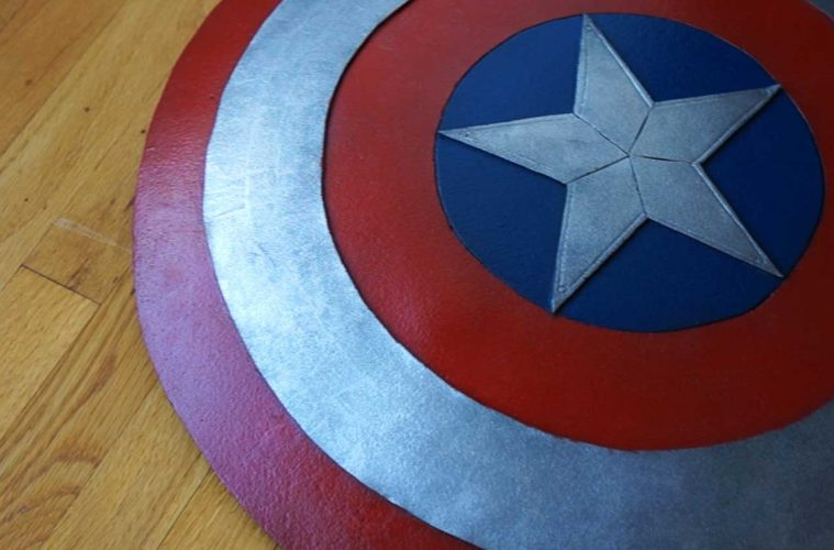 how to make a Captain America shield out of foam