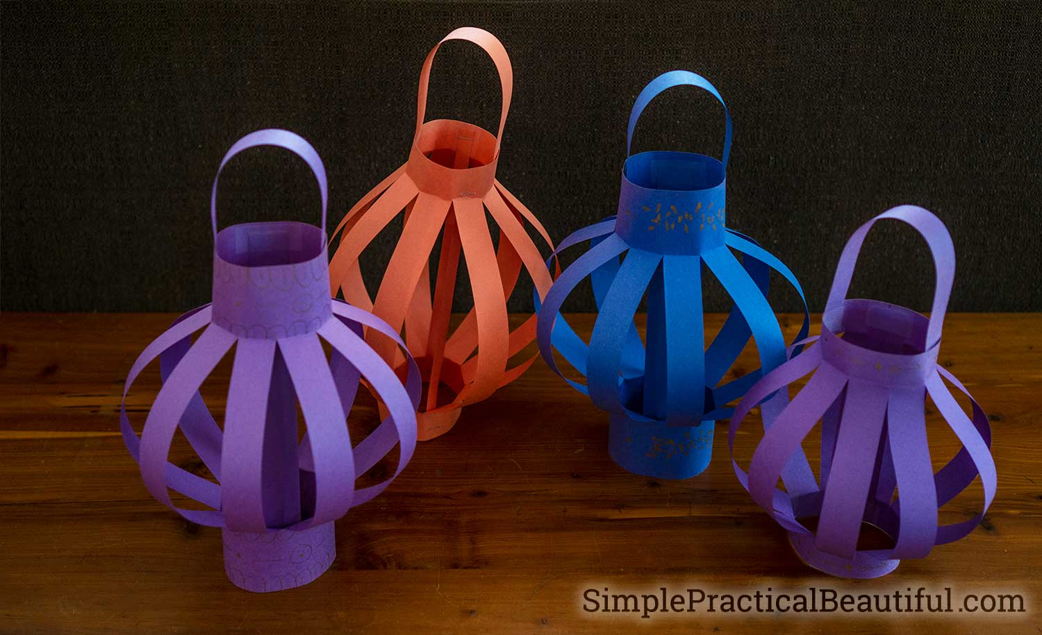 Paper lanterns are easy and fast to make