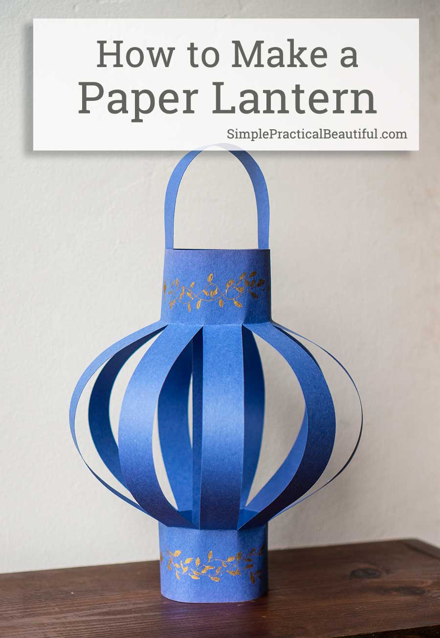 How to make paper lantern with construction paper | a simple DIY project idea that is easy enough for a kid craft but looks good enough for room decor or a party decoration
