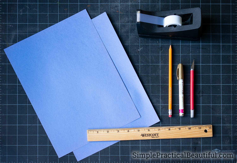supplies to make a paper lantern