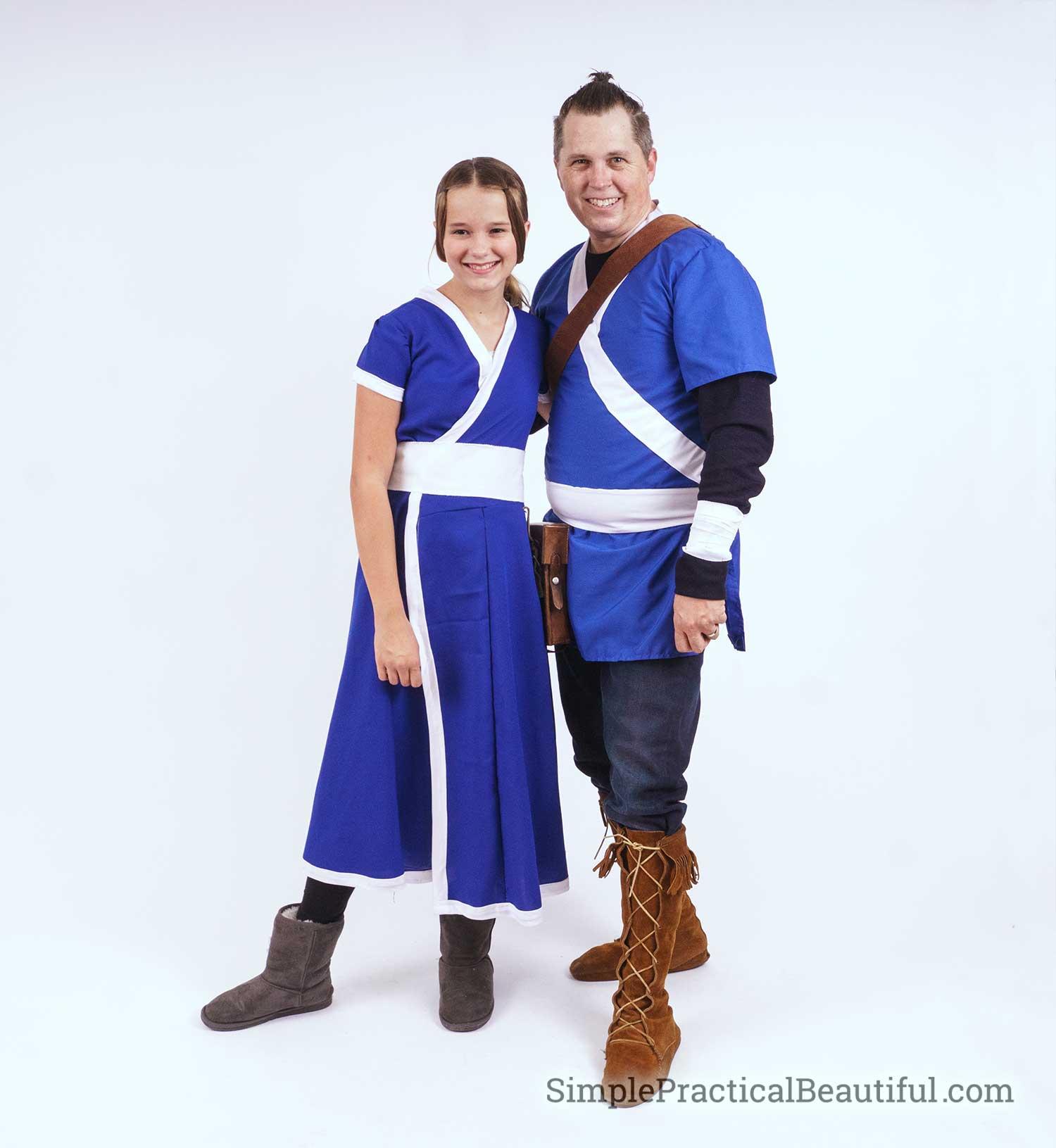 Sokka and Katara cosplay